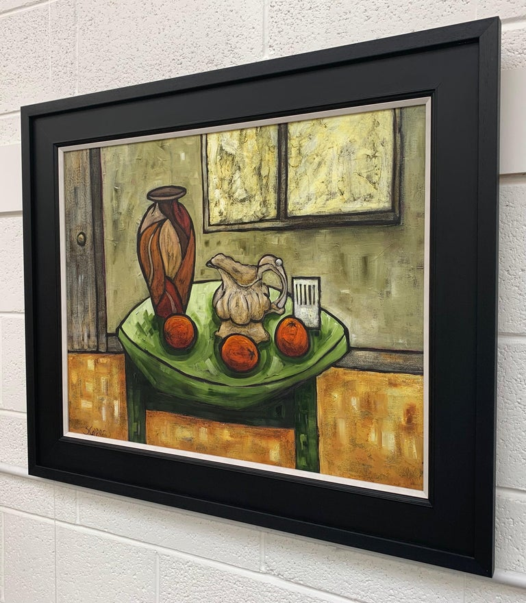Cream Jug Still Life Painting by Cubist Fauvist British Expressionist Artist For Sale 1