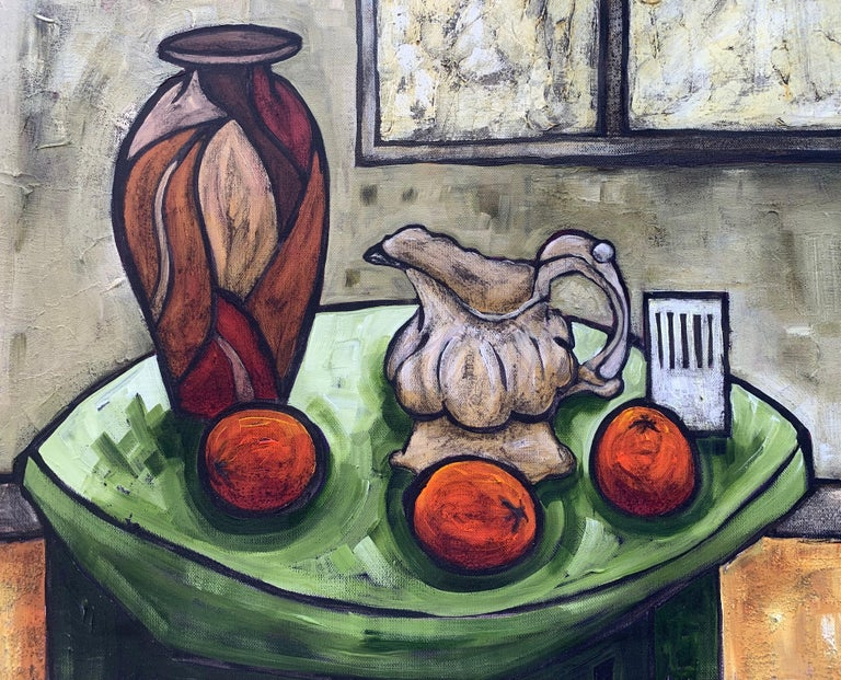 Cream Jug Still Life Painting by Cubist Fauvist British Expressionist Artist For Sale 2