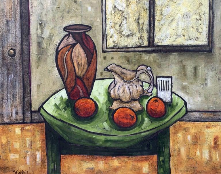 Steve Capper Still-Life Painting - Cream Jug Still Life Painting by Cubist Fauvist British Expressionist Artist