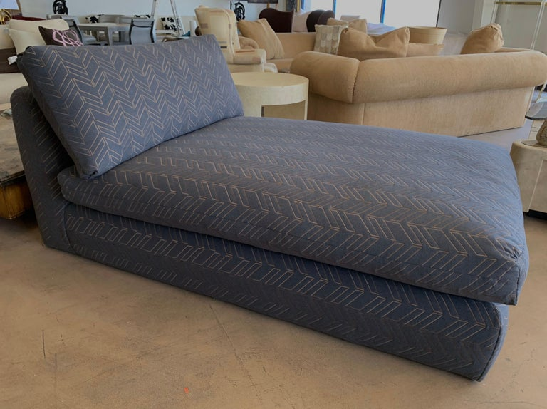 Late 20th Century Steve Chase Grey & Bronze Modern Chaise Lounge from the Palm Springs Kroc Estate