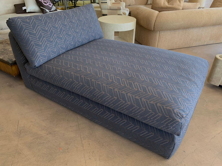 Steve Chase Grey & Bronze Modern Chaise Lounge from the Palm Springs Kroc Estate 1