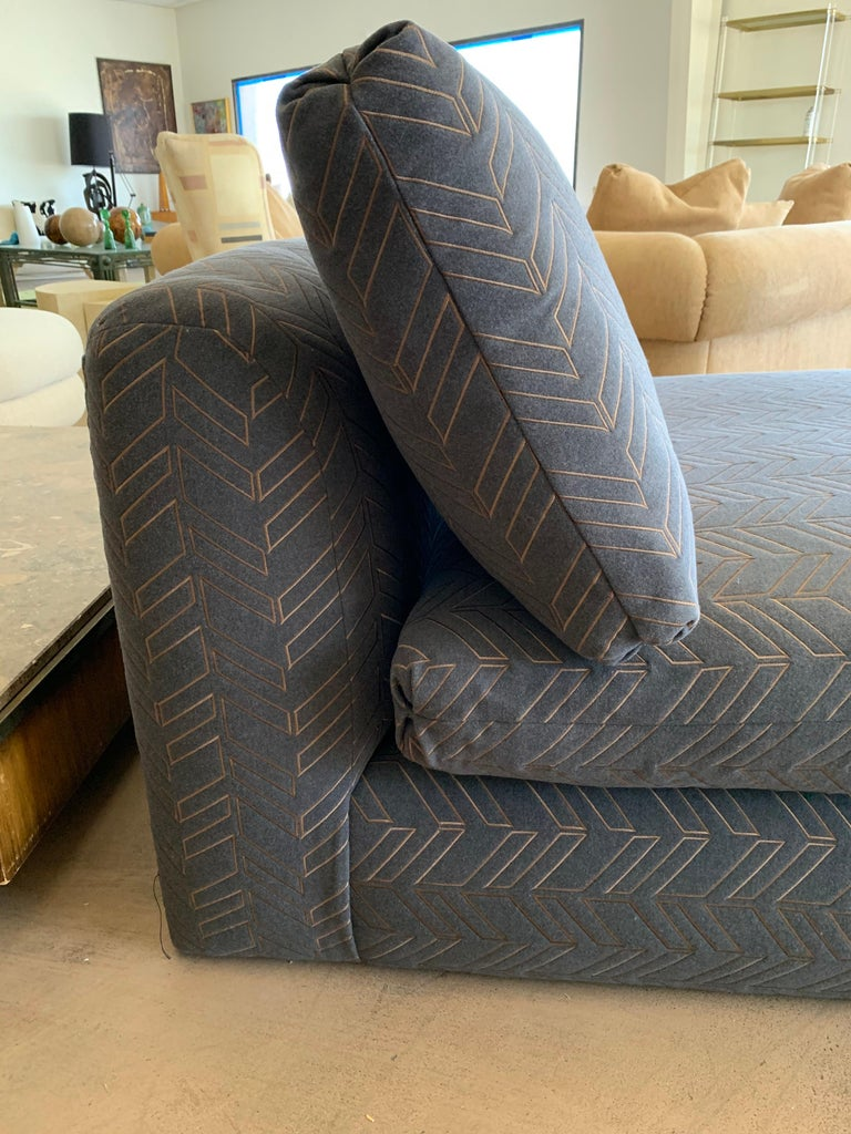 Steve Chase Grey & Bronze Modern Chaise Lounge from the Palm Springs Kroc Estate 2