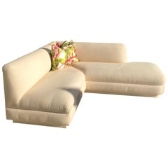 Steve Chase Iconic Modern Sofa Crème Color Neutral Made by A. Rudin