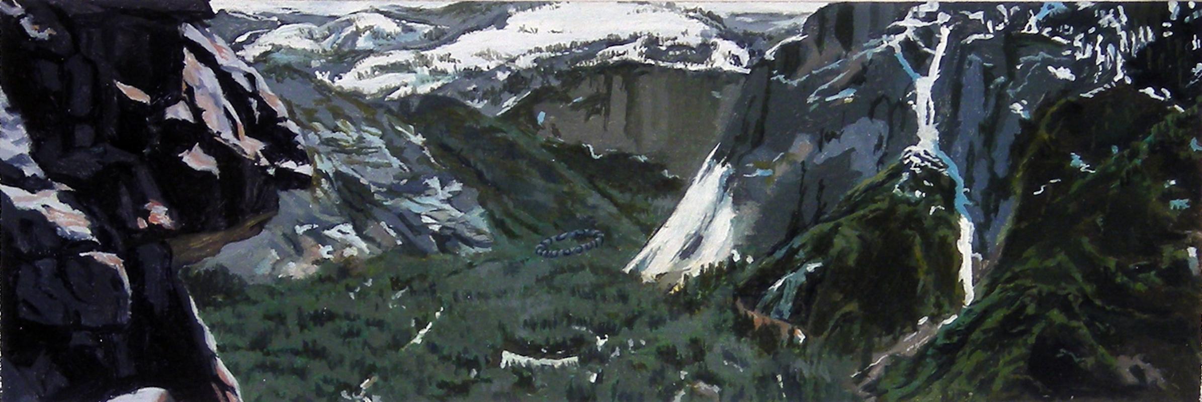 Steve Cope, Rock Yosemite, Oil on Panel, 2012