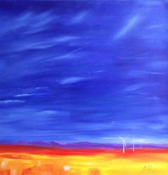 'West Wind', Large Spanish Landscape Signed Oil Painting