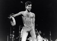 Prince Performing Shirtless on Stage Vintage Original Photograph