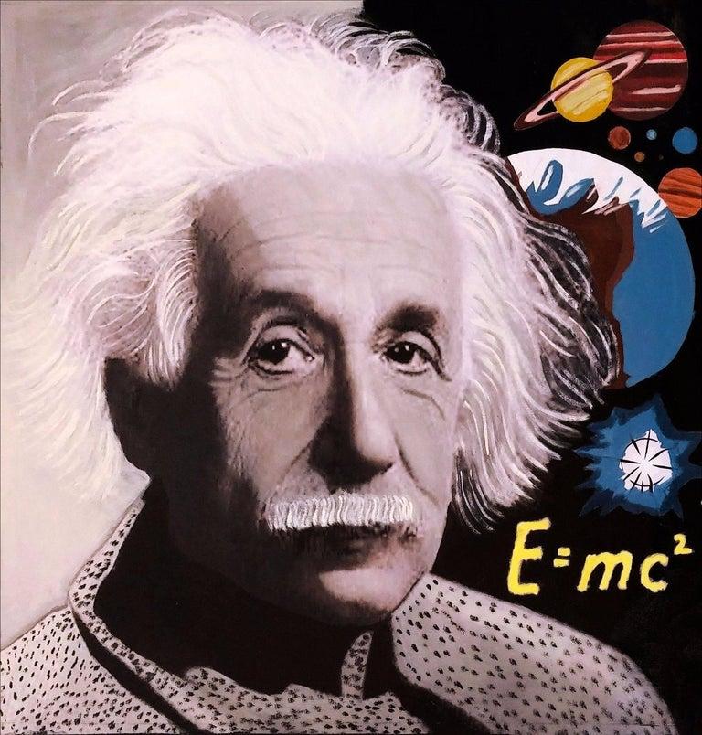 Steve Kaufman Figurative Painting - EINSTEIN E=MC2