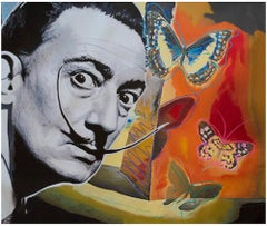 Salvador Dali with Butterflies