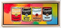 Steve Kaufman Campbell's Soup Quad Original Oil Painting Pop Art Kitchen Pantry