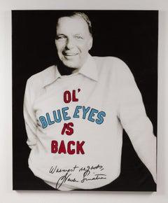 Steve Kaufman Frank Sinatra Signed Street Original Oil Painting Documented