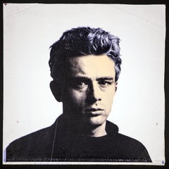 Steve Kaufman James Dean Rat Pack Warhol Famous Assistant Oil Painting Canvas