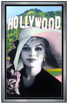 Steve Kaufman Large Oil Painting On Canvas Marilyn Monroe Hollywood Signed Art