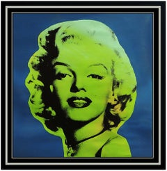 Steve Kaufman Marilyn Monroe Portrait Oil Painting On Canvas Signed Playboy Art