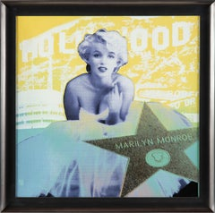 Steve Kaufman Marilyn Monroe SAK Hollywood Star Large Limited Painting Warhol