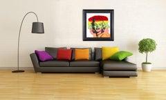 Steve Kaufman Marilyn Monroe Warhol Famous Assistant Oil Painting Canvas 25 x 28