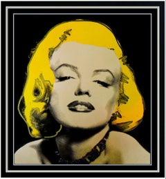 STEVE KAUFMAN Oil Painting On Canvas Marilyn Monroe Signed Framed Playboy Art