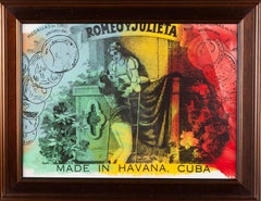 Steve Kaufman Original Oil Hand Painted Romeo and Julieta Cohiba Cigar Documente
