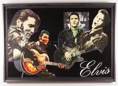 Steve Kaufman Original Oil Painting Elvis Rock Music Signed Pop Art