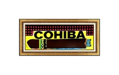 Steve Kaufman Original Oil Painting On Canvas Cohiba Cigars Signed Framed Art