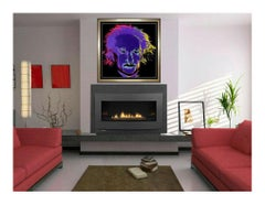 Steve Kaufman Original Oil Painting on Canvas Signed Albert Einstein Large Art