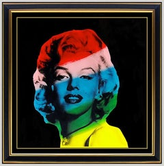 Steve KAUFMAN ORIGINAL PAINTING Oil on Canvas Marilyn Monroe Signed Nude Artwork