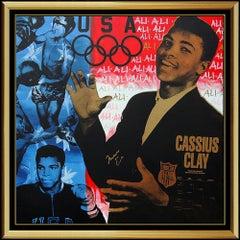 Steve KAUFMAN Original Painting Oil On Canvas Muhammad Ali Boxing Signed Artwork