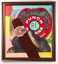 Steve Kaufman Punch Habana 47x47 Original Oil Painting Well Documented