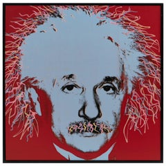 Steve Kaufman Pop Art Albert Einstein