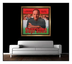 STEVE KAUFMAN Oil PAINTING on Canvas Large Signed Sopranos Artwork Framed SBO