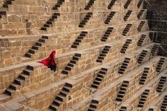 Woman in Chand Baori Stepwell