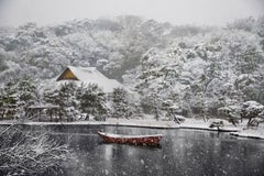 Boat Covered in Snow in Sankei-En Gardens, Japan, 2014 - Landscape Photography