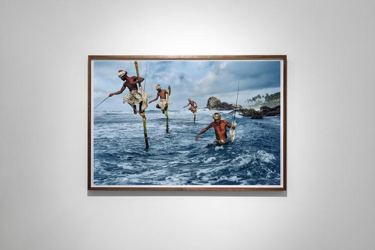 Fishermen, Weligama, South Coast, Sri Lanka, 1995  - Colour Photography For Sale 1