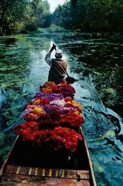 Flower Seller, Dal Lake, Srinigar, Kashmir, 1996 - Colour Photography