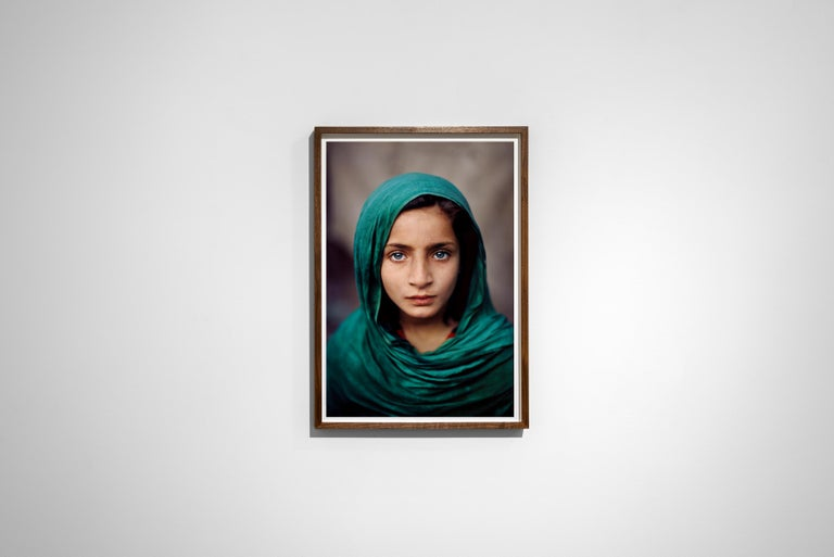 Girl With Green Shawl, Peshawar, Pakistan, 2002 - Portrait Photography For Sale 1