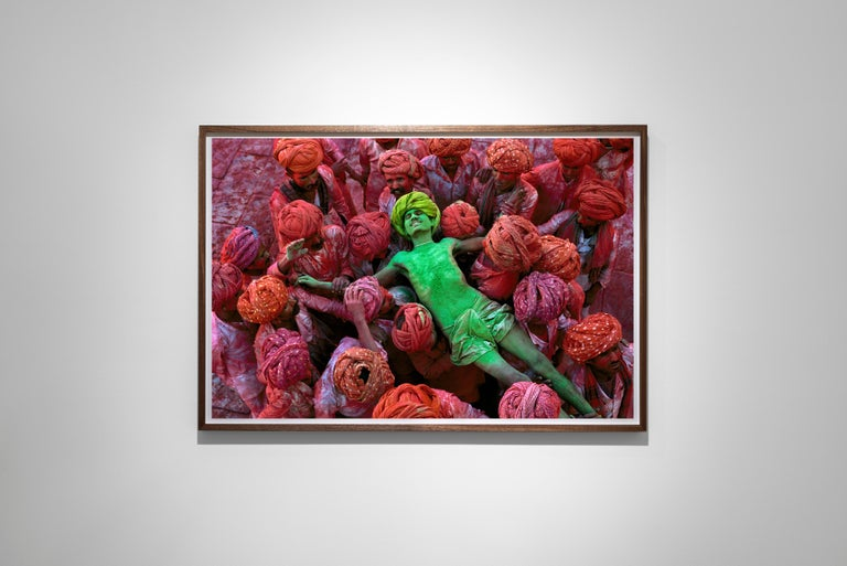 Holi Festival, Rajasthan, India, 1996 - Colour Photography - Brown Color Photograph by Steve McCurry