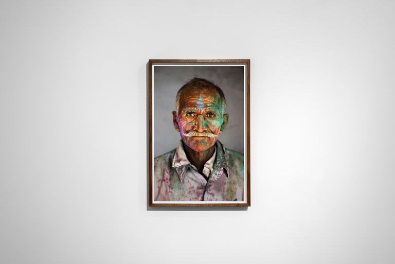 Man Covered in Powder, Rajasthan, India, 2009 - Portrait Photography For Sale 1