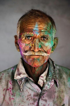 Man Covered in Powder, Rajasthan, India