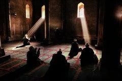 Men praying in a mosque, Srinagar, Kashmir