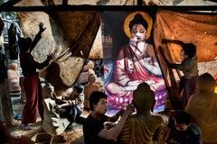 Men Sculpt Buddhas, Mandalay, Myanmar, 2013