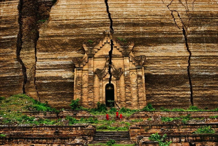 Steve McCurry Color Photograph - Mingun Pagoda, Mandalay, Burma, 1994 - Colour Photography, Landscape Photography