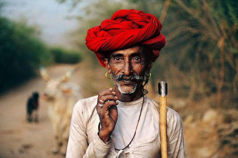 Steve McCurry Portrait Photograph - Rabari Shepard, Rajstan, India