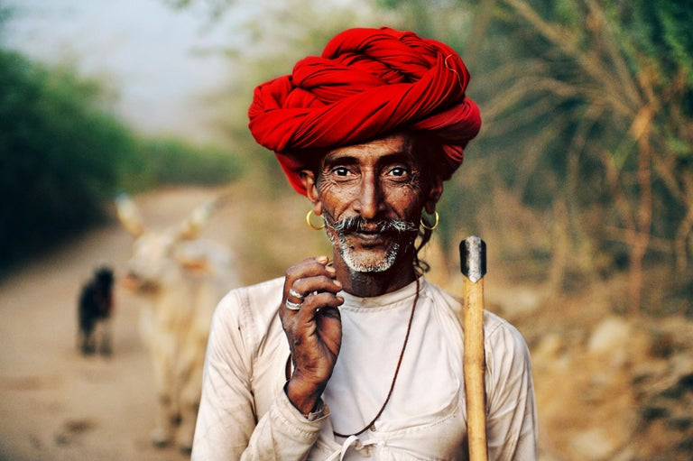 Steve McCurry Color Photograph - Rabari Shepherd, Rajasthan, India, 2009 - Colour Photography