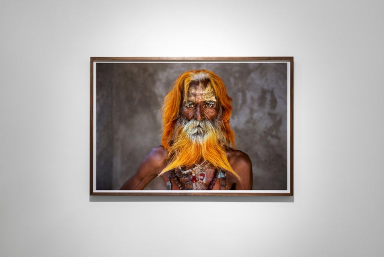 Rabari Tribal Elder, Rajasthan, India, 2010 - Colour Photography - Black Portrait Photograph by Steve McCurry