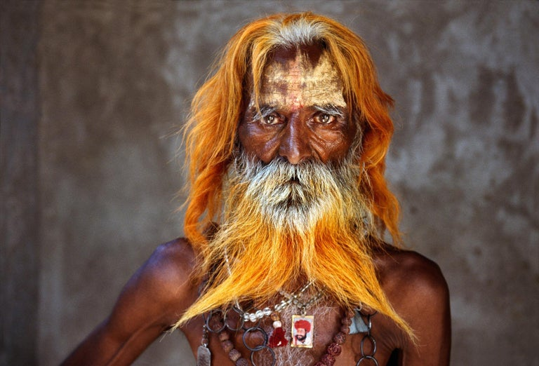 Steve McCurry Portrait Photograph - Rabari Tribal Elder, Rajasthan, India, 2010 - Colour Photography
