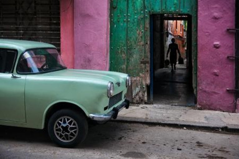 Steve McCurry Color Photograph - Russian Car in Old Havana, Cuba, 2010