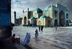 Salat at Blue Mosque in Mazar-E-Sharif, 1992 - Colour Photography