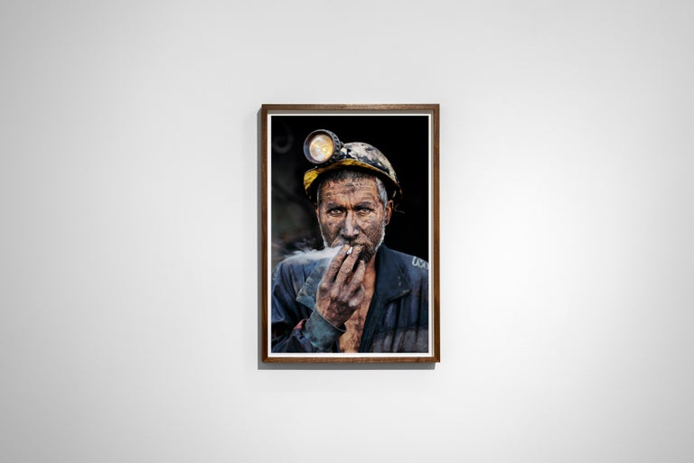 Smoking Coal Miner, Pol-E-Khomri, Afghanistan, 2002 - Colour Photography For Sale 1