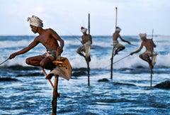 Stilt fishermen, Weligama, South Coast, Sri Lanka