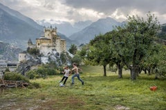 Two Girls Play, Saint Pierre, Aosta Vallery, Italy