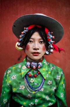 Woman at a Horse Festival, Tagong, Tibet, 1999 - Portrait Photography